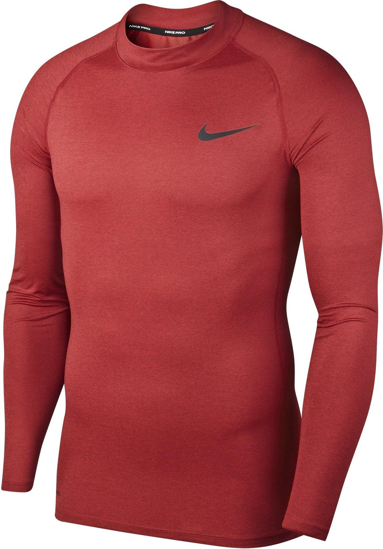 Langarm-T-Shirt Nike M NP TOP LS TIGHT MOCK